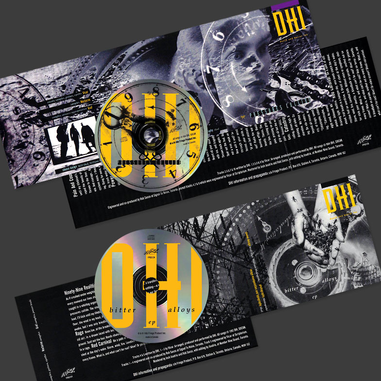 DHI (death and horror inc) Pressures Collide and Bitter Alloys CD contents