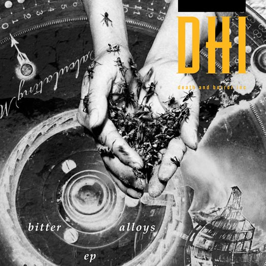 The cover of the Bitter Alloys EP by DHI (death and horror inc).