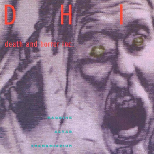 The cover of the Machine Altar Transmission CD by DHI (death and horror inc).